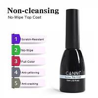 CANNI Non-Cleansing Top Coat - топ, финишное покрытие без липкого слоя для гель-лака, 15 мл