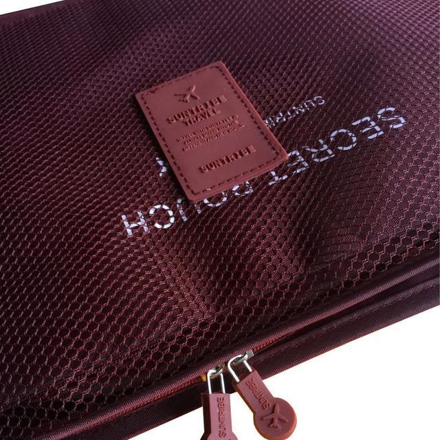 Набор сумочек в чемодан бордовый