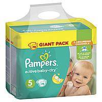 Подгузник Pampers Active Baby Junior 5 (11-18 кг), 78шт