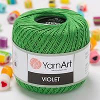 Пряжа YarnArt Violet 6332 зеленая трава (ЯрнАрт Виолет) 100% мерсеризованный хлопок