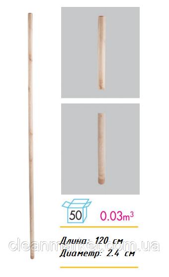 Рукоятка (кий) для швабры деревянная с резьбой DES 286