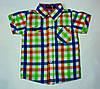 Стильная рубашка, шведка  для мальчика рост 80-86 cм