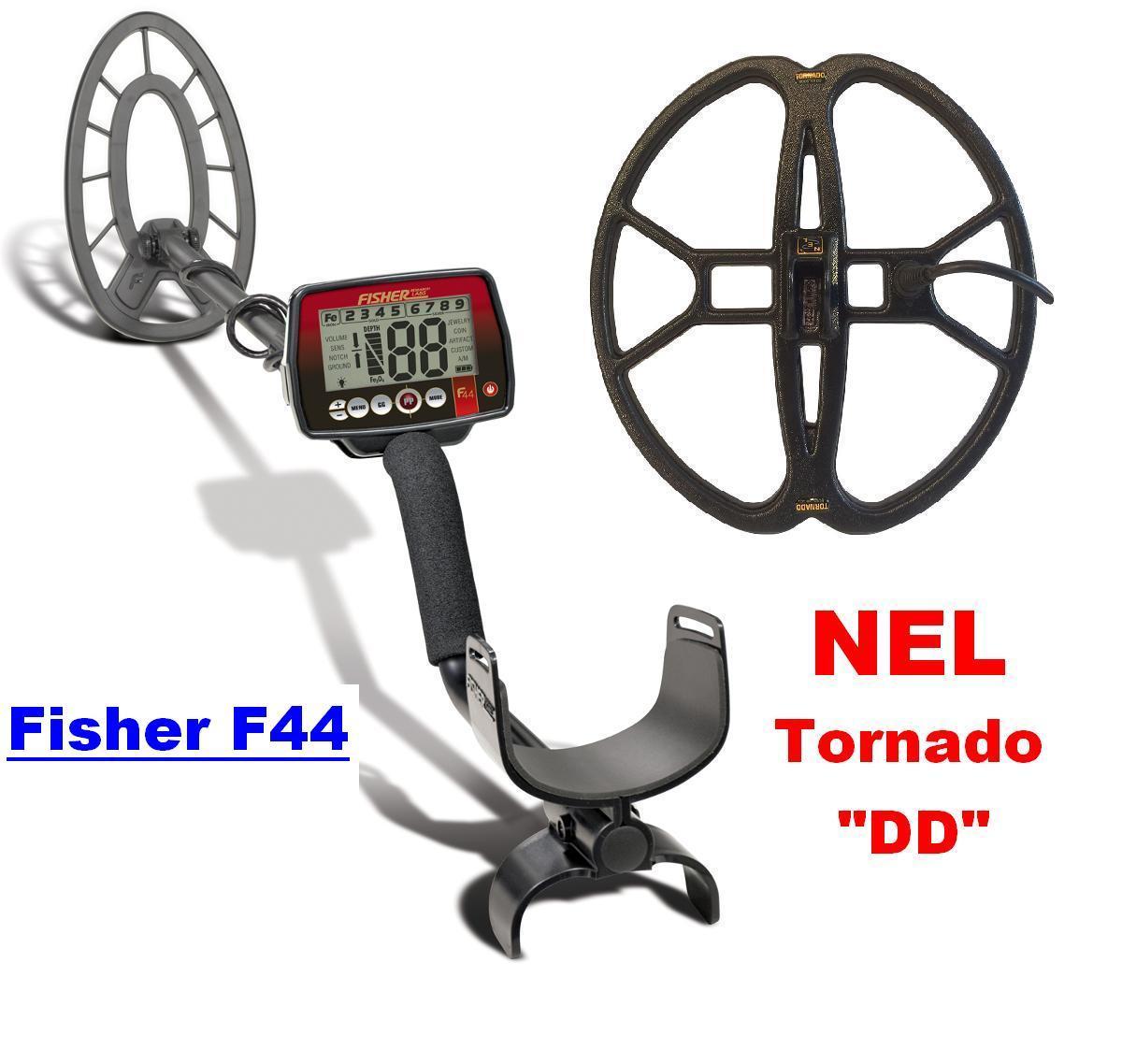 Фішер Ф44 з глибинною котушкою НЕЛ Торнадо + чохол, фото 1