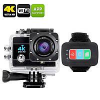 Экшн-камера Q3H WiFi 4K аналог GoPro + 24 крепления и карта памяти Transcend на 32 гб в подарок