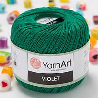 Пряжа YarnArt Violet 6334 изумруд (ЯрнАрт Виолет) 100% мерсеризованный хлопок