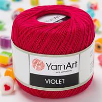 Пряжа YarnArt Violet 6358 рубин (ЯрнАрт Виолет) 100% мерсеризованный хлопок