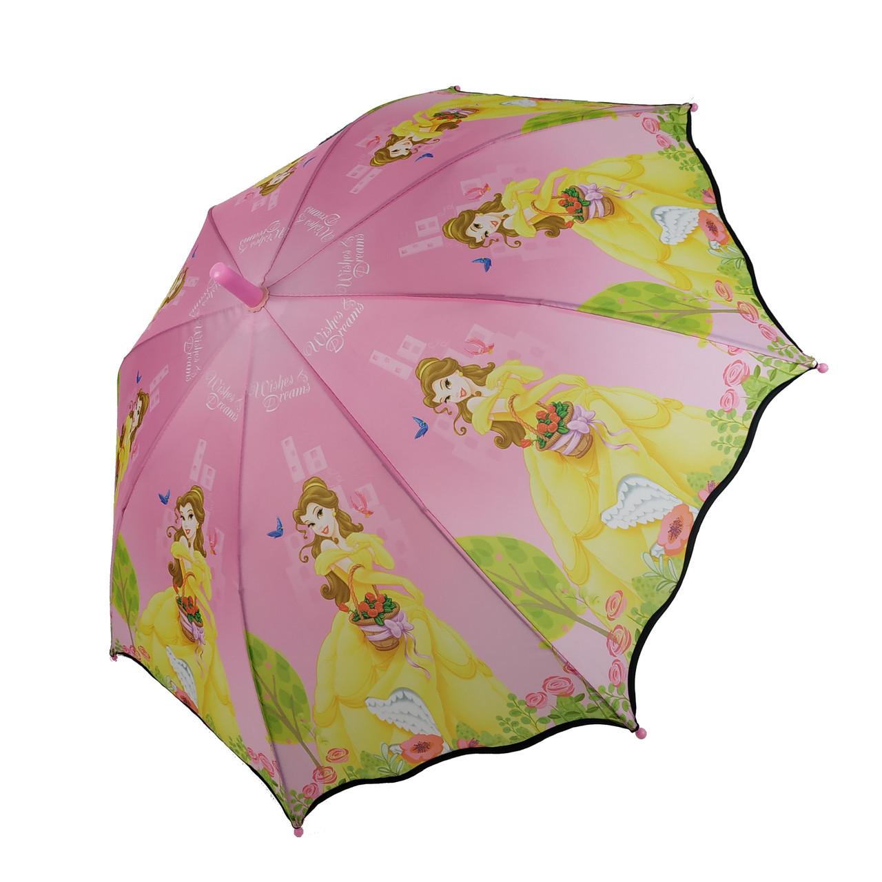 """Детский зонт-полуавтомат Paolo Rosi """"Спящая красавица"""" розовый цвет, N007-8"""