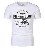 Футболка FISHING CLUB мужская белая