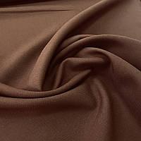 Габардин однотонный коричневый, ширина 150 см, фото 1
