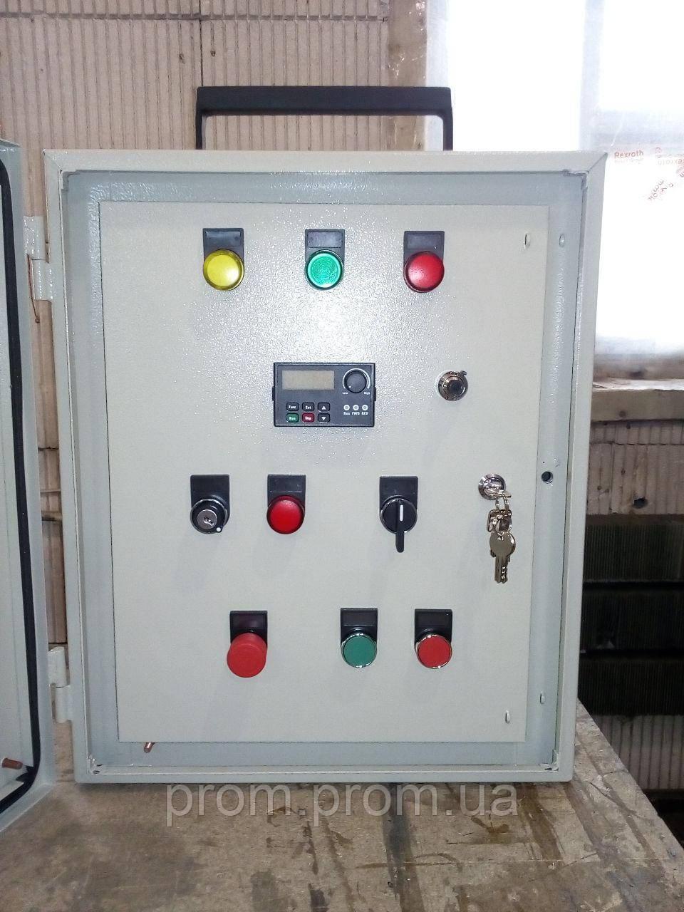 Шкаф управления с частотным преобразователем мобильный переносной.