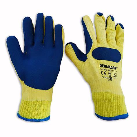 Перчатки для строительных работ с латексным покрытием Dermagrip, уп. — 12 пар, фото 2