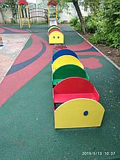 Резиновые покрытия для игровых площадок (из чёрной резиновой крошки толщина 10 мм), фото 2