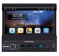 Автомагнитола выдвижная CYCLONE MP-7101A Android 7.1, GPS WiFi, Bluetooth, DVD с выездным экраном