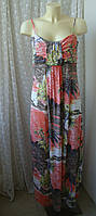 Платье женское сарафан в пол макси лето вискоза стрейч бренд Switch р.48