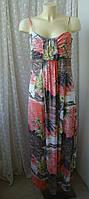 Платье женское сарафан в пол макси лето вискоза стрейч бренд Switch р.48, фото 1