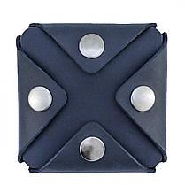 Монетница кожаная ручной работы VOILE cn3-blu, фото 3