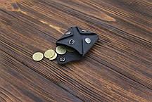 Монетница кожаная ручной работы VOILE cn3-blu, фото 2