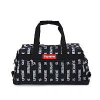 Спортивная сумка Supreme черного цвета. Стильная, удобная, качественная и вместительная сумка Supreme черная., фото 1