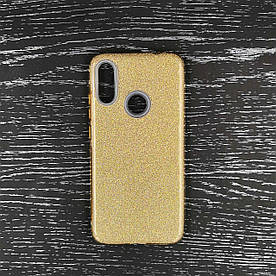 Чехол накладка для Xiaomi Redmi Note 7 силиконовый, Remax Case GLITTER, золотистый