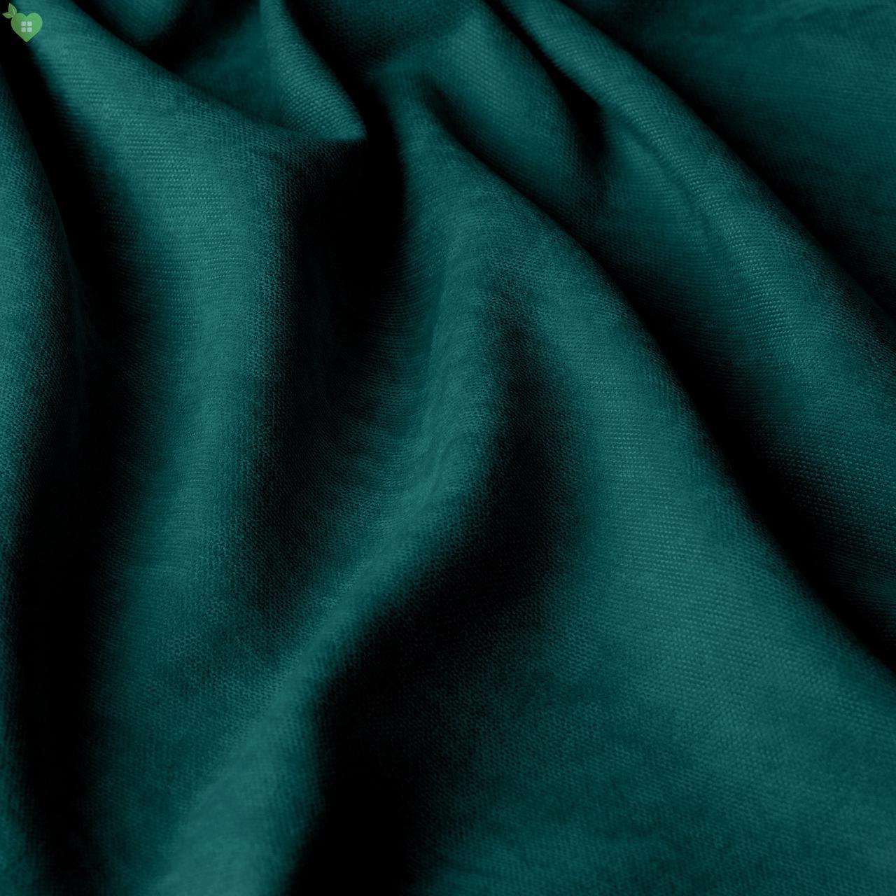 Однотонная декоративная ткань велюр цвета темного изумруда 84369v23