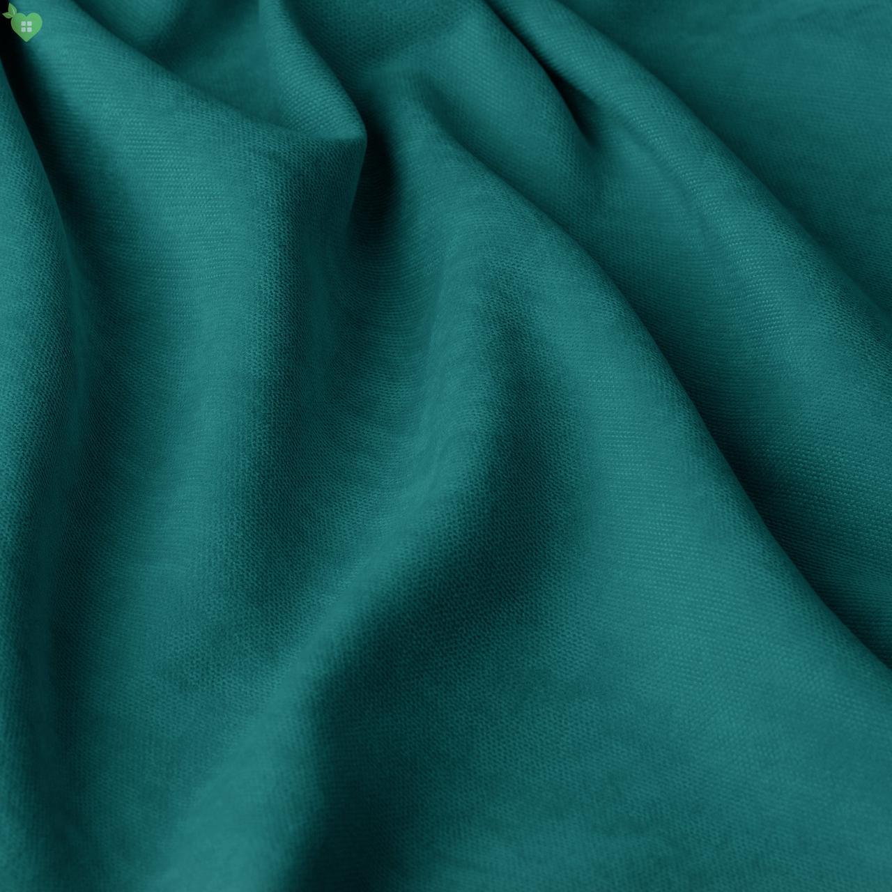 Однотонная декоративная ткань велюр глубокая бирюза Турция 84368v22