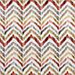 Тканина для штор, подушок, покривал натуральна бавовняна з різнокольоровими загзагами 84305v1, фото 3