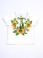 Футболка-вишиванка для дівчинки біла Сонях Piccolo L