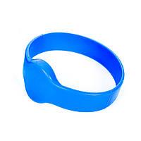 Синий rfid браслет  водонепроницаемый с чипом Mifare 1K S50 13.56 MHz, совместимый