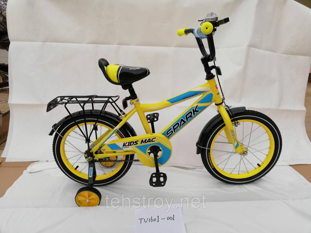 """16"""" Велосипед SPARK KIDS MAC сталь TV1601-001"""