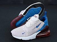 """Кроссовки женские Nike Air Max 270  """"Бело-голубые с красными задниками"""" найк аир макс р. 36-40, фото 1"""
