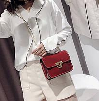 Модная глянцевая сумка сундучок на цепочк, фото 2