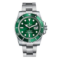 Часы Rolex Submariner Hulk 40mm (ETA 2834-2) Silver/Green (Механика). Replica: AAA., фото 1