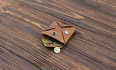 Монетница из кожи ручной работы VOILE cn3-lbrn, фото 3