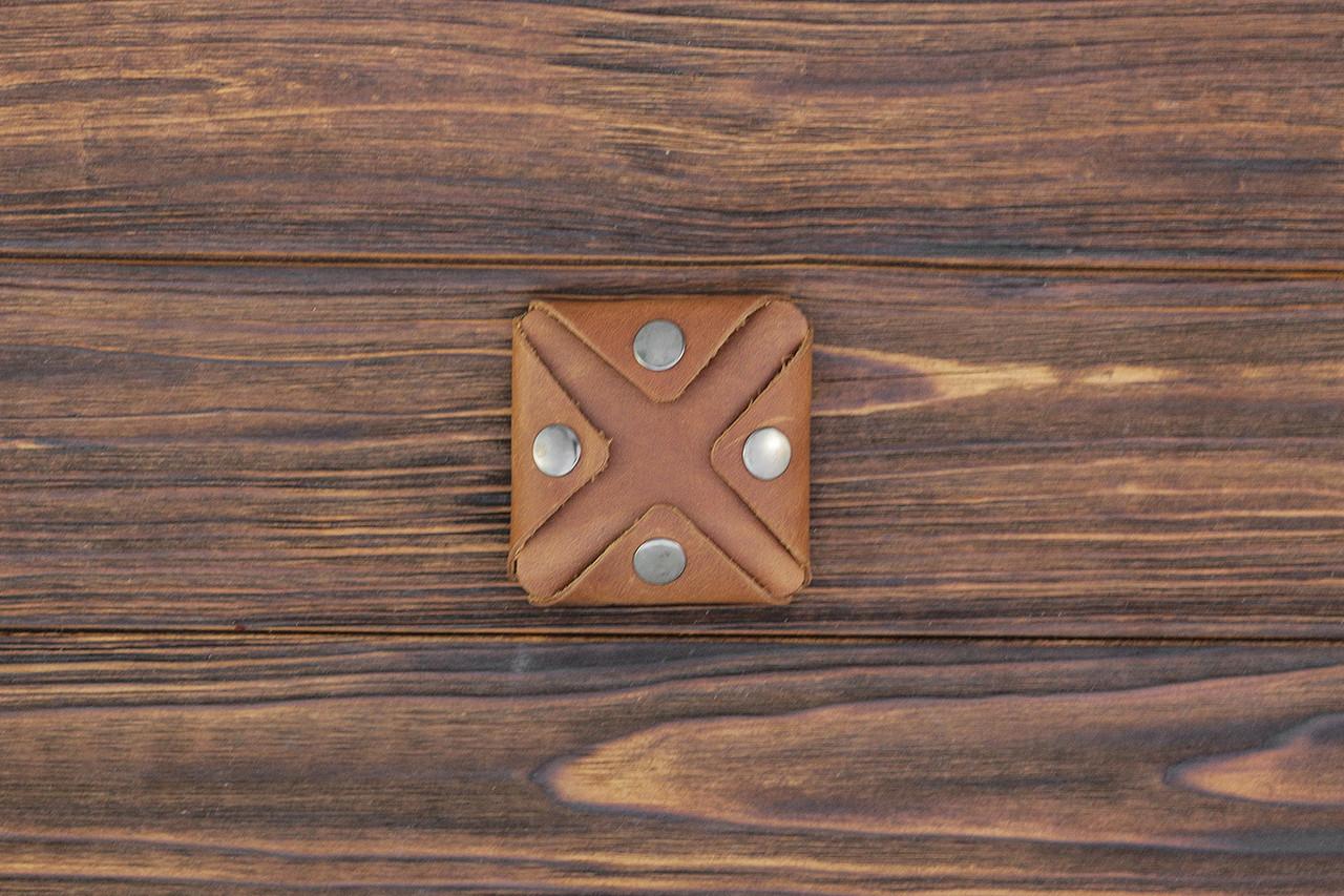 Монетница из кожи ручной работы VOILE cn3-lbrn