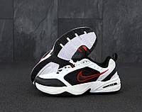 """Кроссовки мужские кожаные Nike Monarch  """"Белые с черным"""" найк монарх р. 41-45"""