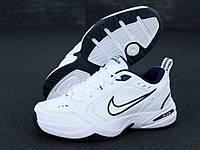 """Кроссовки мужские кожаные Nike Monarch  """"Белые"""" найк монарх р. 41-45"""