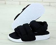 "Сандалии унисекс Adidas Sandal Black ""Черные"" р. 36-45, фото 1"