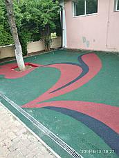 Резиновые покрытия из цветной резиновой крошки (10мм), фото 3