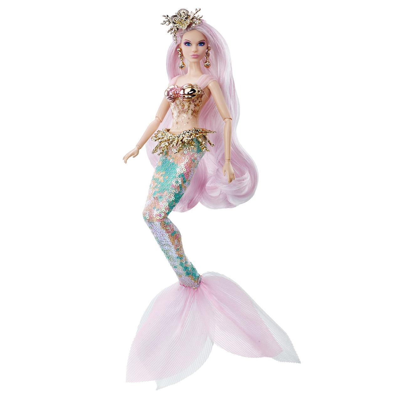 Кукла Барби коллекционная Русалка Волшебница