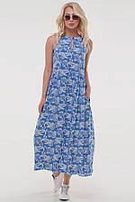 Летнее платье балахон  цвета джинс размер 44-52 (5 расцветок) (влн)