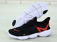 """Кроссовки мужские Nike Free Run """"Черные с красным"""" р. 41-45"""