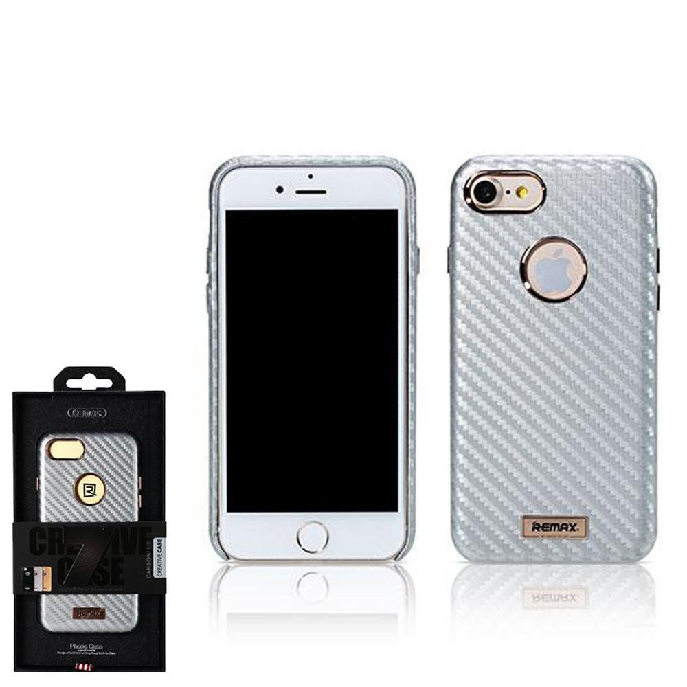 Чехол Remax Carbon  iPhone 7 Silver
