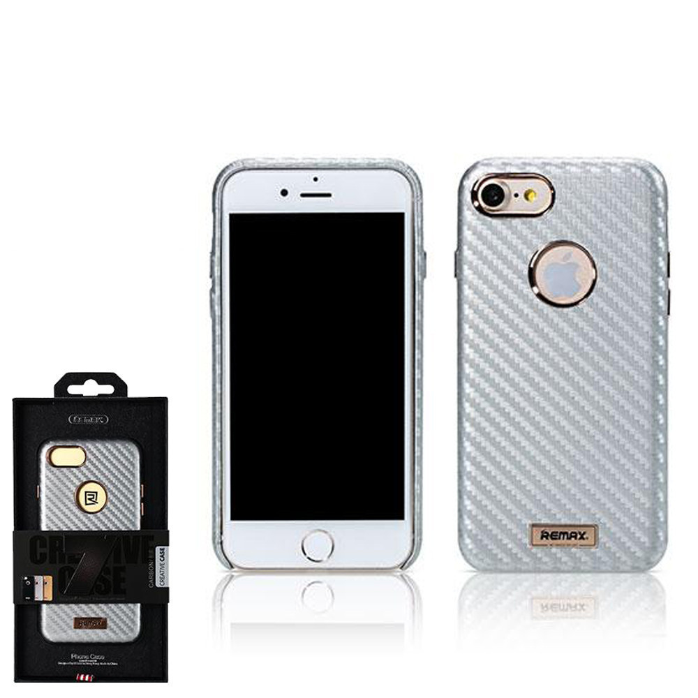 Чохол Remax Carbon iPhone 7 Silver