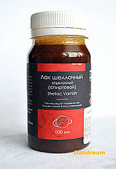 Лак шеллачный на водно-спиртовой основе, 100 мл, Таир