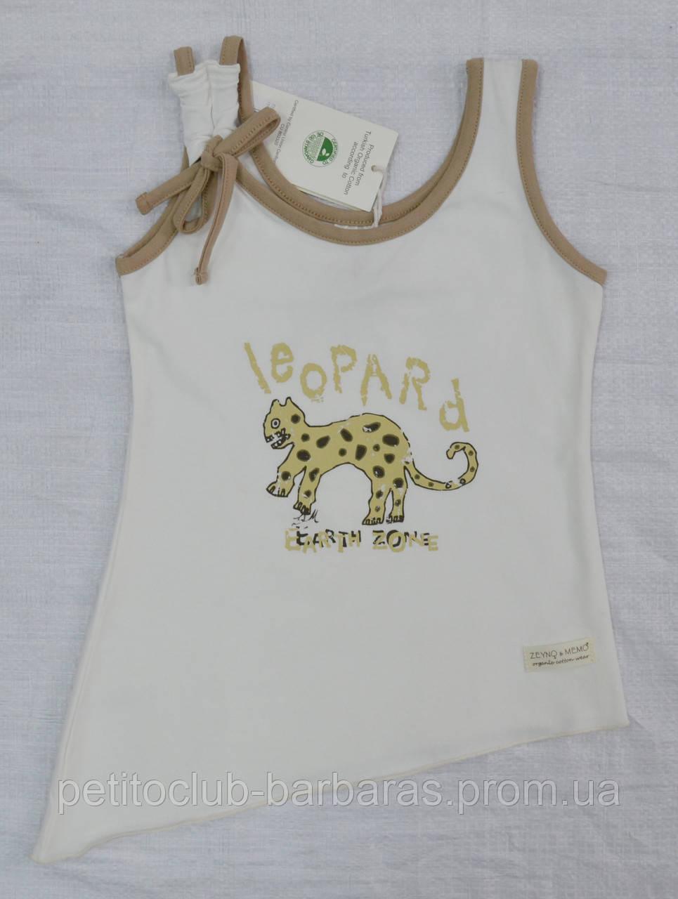 Детская летняя майка Leopard крем из органического хлопка (Z&M, Турция)
