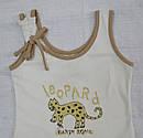Детская летняя майка Leopard крем из органического хлопка (Z&M, Турция), фото 2