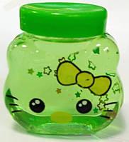 Игрушка антистресс Лизун Слайм Кити, зеленый, фото 1