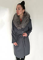 Пальто Oscar Fur  ПД-5  Серый, фото 1