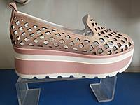 Женские кожаные открытые туфли, фото 1