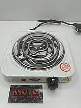 Печка-плитка электрическая Wimpex для розжига углей малая спиральная (1000W)